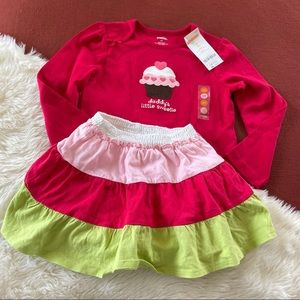 NWT Gymboree & crazy 8 shirt and skirt outfit 4T
